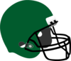 Green Football Helmet Clip Art