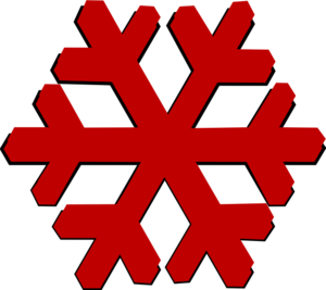 Snow Flake Bordo3 Clip Art