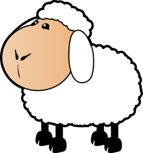 Sheep With A Beige Face Clip Art