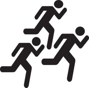 Running Run Runner   Dog Tag