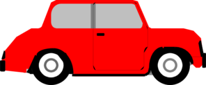 Bright Red Car Clip Art