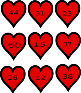 Hearts Place Value Maths Clip Art