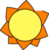 Yellow Orange Sun Clip Art