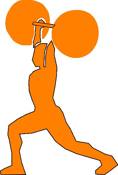 orange weightlifter clip art at clker com vector clip weightlifting clipart border weight lifting clip art women