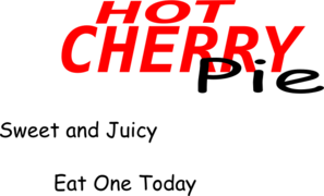Hot Cherry Pie Clip Art