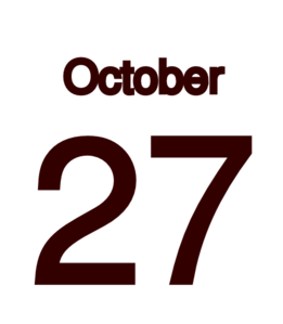 October 27 Clip Art