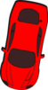 Red Car - Top View - 260 Clip Art