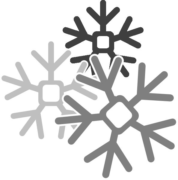 Gray Snowflakes Clip Art at Clker.com - vector clip art ...