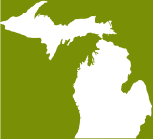 Michigan Green White Clip Art