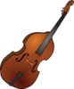 Double Bass Vector 1 Clip Art