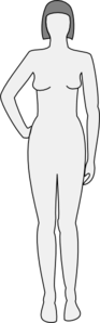 Outline Female Form Clip Art