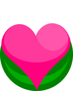 Growing Heart With Leaves Clip Art
