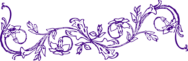 purple flower frame clip art