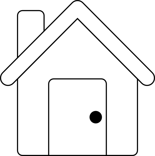 Line Art House : House outline clip art at clker vector