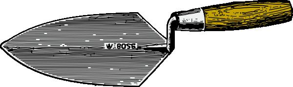 Mason Trowel Clip Art Cartoon : Trowel clip art at clker vector online