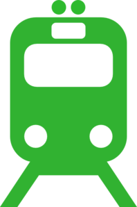 Green Train - Public Service Clip Art
