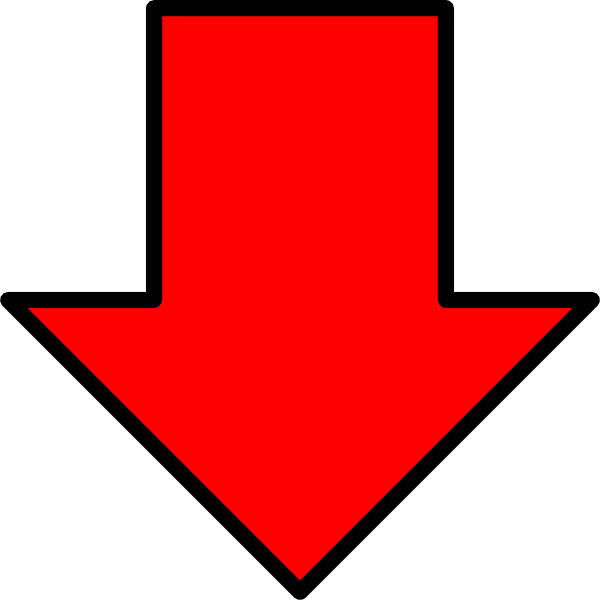Red Down Arrow Clip Art At Clker Vector Clip Art Online
