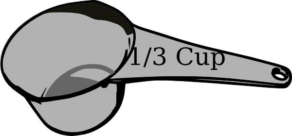 1/3 Cup Measuring Cup Clip Art at Clker.com - vector clip art online, royalty free & public domain
