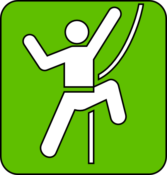 Rock Climbing Symbol Green Clip Art at Clker.com - vector clip art ...
