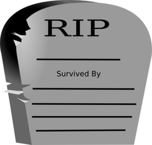 Rest In Peace Word Graveyard Stone Clip Art