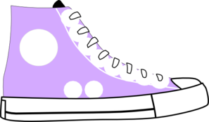 Puple Tennis Shoe Clip Art at Clker.com - vector clip art online ...