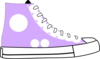 Puple Tennis Shoe Clip Art