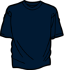 T Shirt Template Dark Blue Clip Art