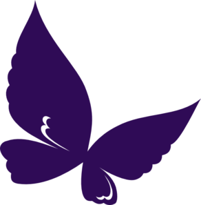 Dark Purple Butterfly Clip Art