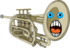 Surprised Trumpet Clip Art