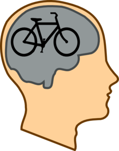 Biking On The Brain Clip Art