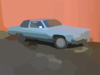 Old Blue Cadillac In Richmond Vector Clip Art