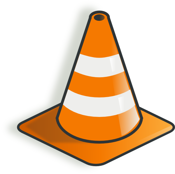 Traffic Cone 2 Clip Art at Clker.com - 97.4KB