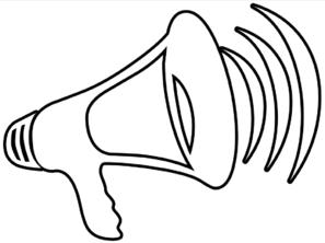 megaphone outline clip art at clker com vector clip art online rh clker com megaphone clipart cheerleader megaphone clipart cheerleader