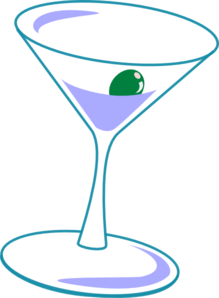 Simple Martini Glass Clip Art