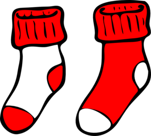 red and white socks clip art at clker com vector clip Vector Jeans Pan Vector