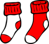 Red And White Socks Clip Art