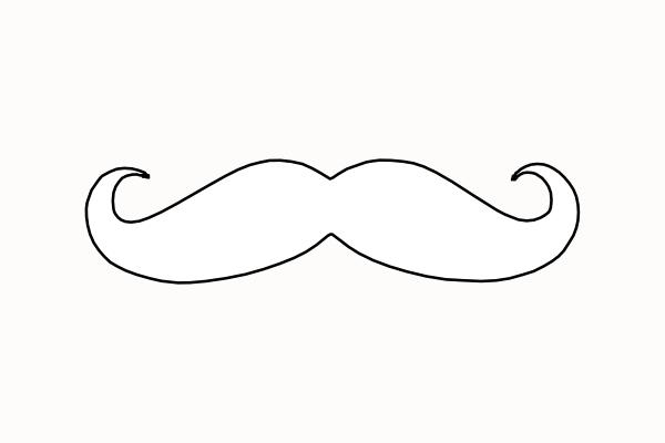 Mustache Clip Art At Clker Com Vector Clip Art Online Mustache Coloring Page