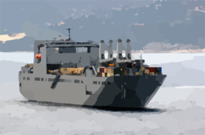 Large, Medium-speed Roll-on/roll-off Ship Usns Benavidez (t-akr 306) Heads Out Of Souda Harbor Following A Brief Port Clip Art