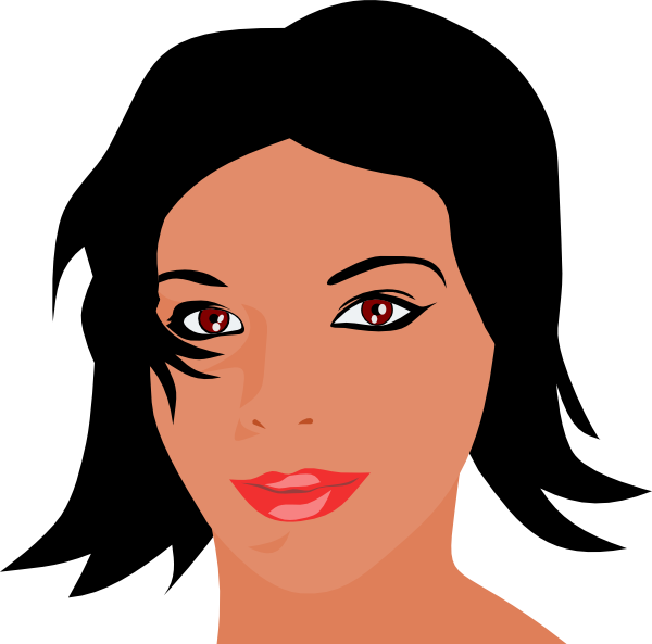 Woman With Black Hair Clip Art at Clker.com - vector clip ...