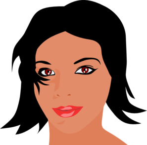 Woman With Black Hair Clip Art