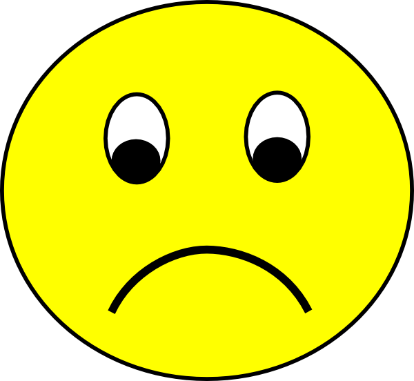 Sad Smiley Clip Art at Clker.com - vector clip art online ...