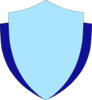 Sky Blue Shield W/flank Clip Art