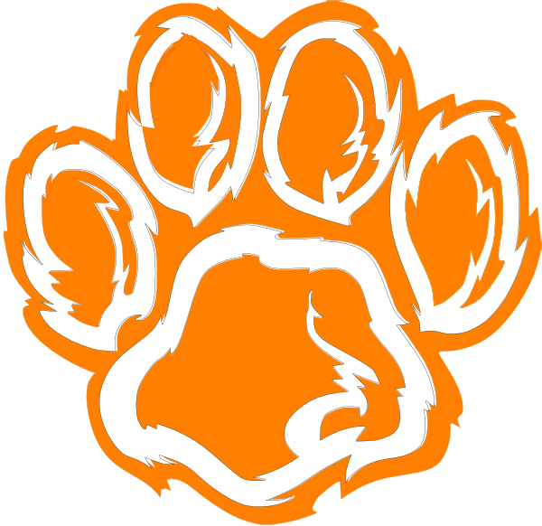 tiger paw white orange purple clip art at clkercom