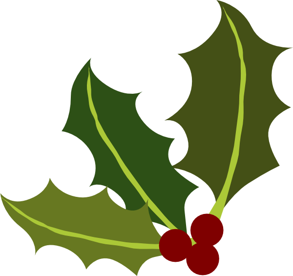 Clip Art Holly Leaves Clipart holly leaf corner clip art at clker com vector online download this image as