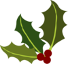 Holly Leaf Corner Clip Art