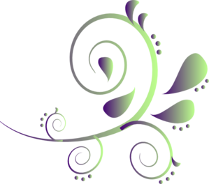 Purple To Green Paisley Clip Art