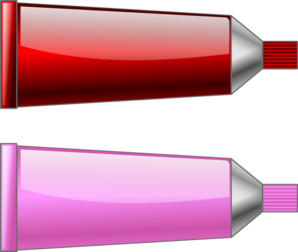 Color Tube Red Pink Clip Art