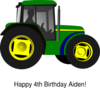 Little Green Tractor Clip Art