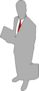 Grey Businessman Clip Art