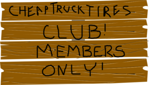 Truck Wood Sign Members Only Clip Art
